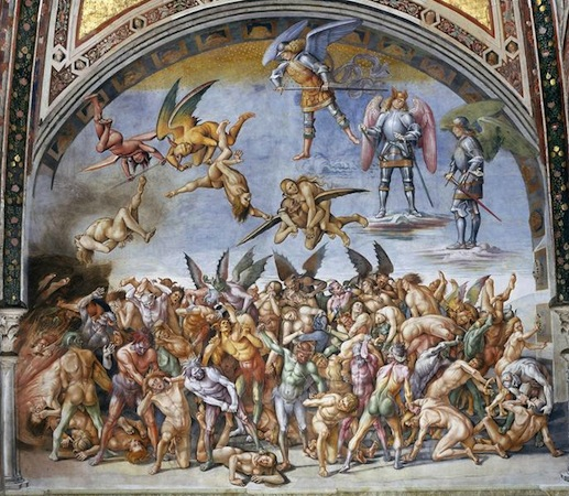 Luca Signorelli, The Damned Cast into Hell, 1499-1504, fresco, 23' wide (San Brizio chapel, Orvieto Cathedral, Orvieto, Italy)