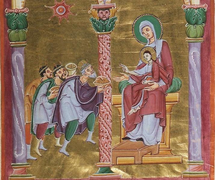Adoration of the MagiGospels of Otto III (Munich, Bayerische Stattsbibliothek, Clm.4453, fol. 29)