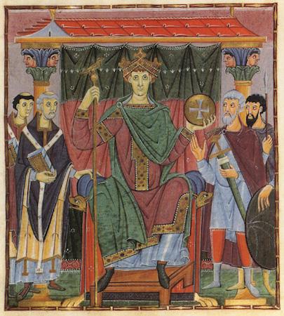 Ruler portrait of Otto III (f.24), Gospels of Otto III (Munich, Bayerische Stattsbibliothek, Clm.4453)