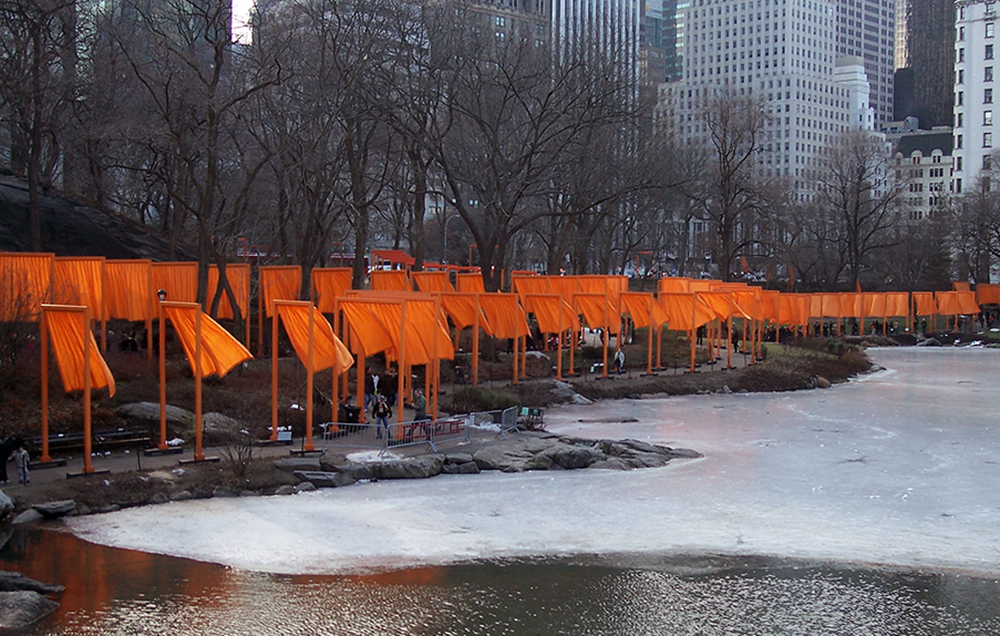 Christo and Jeanne-Claude, The Gates, 1979-2005 (view near the pond looking southeast)