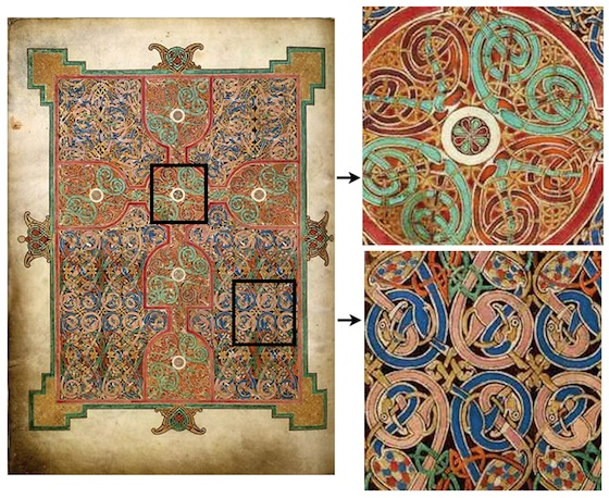 Lindisfarne Gospels, St Matthew, Cross-Carpet page, f.26v (British Museum)