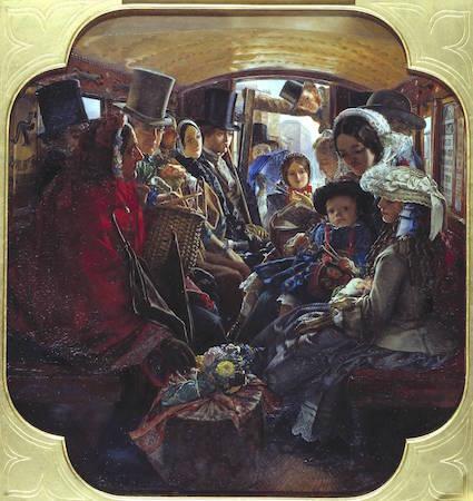 William Maw Egley, Omnibus Life in London, 1859, oil on canvas, 44.8 x 41.9 cm (Tate)