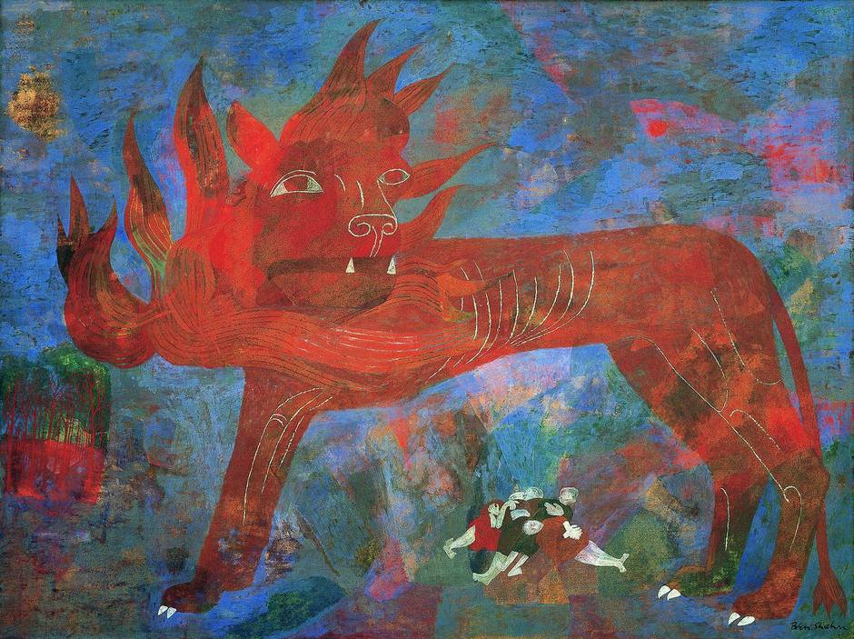 Ben Shahn, Allegory, 1948, tempera on panel, 36-1/8 x 48-1/8 inches (Modern Art Museum of Fort Worth)