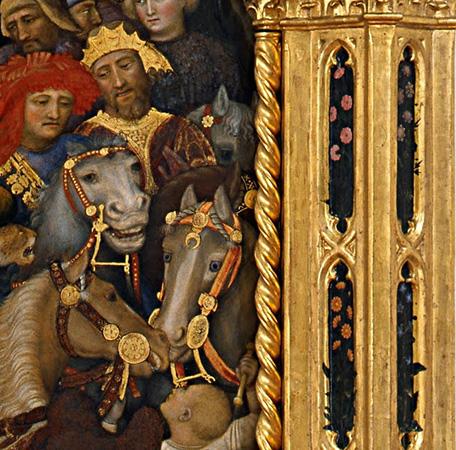 Gentile da Fabriano, Adoration of the Magi, 1423, tempera on panel, 283 x 300 cm (Uffizi Gallery, Florence)