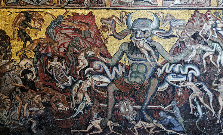 Mosaic (detail) of the Last Judgment on the ceiling of the Florence Baptistry