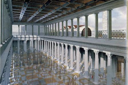 Reconstruction of the interior of the Basilica Ulpia