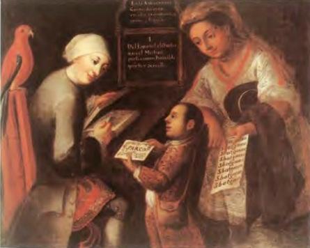 José Joaquín Magón, El Mestizo/The Mestizo, second half of the eighteenth century. Oil on canvas. 102 x 126 cm. Private collection.