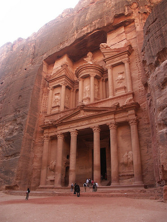 The Treasury, or Khazneh, of Petra (present-day Jordan), 2nd century C.E., photo: Packwood / Shand (CC BY 2.0)