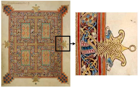 Lindisfarne Gospels, John cross-carpet page f 210v (British Museum)