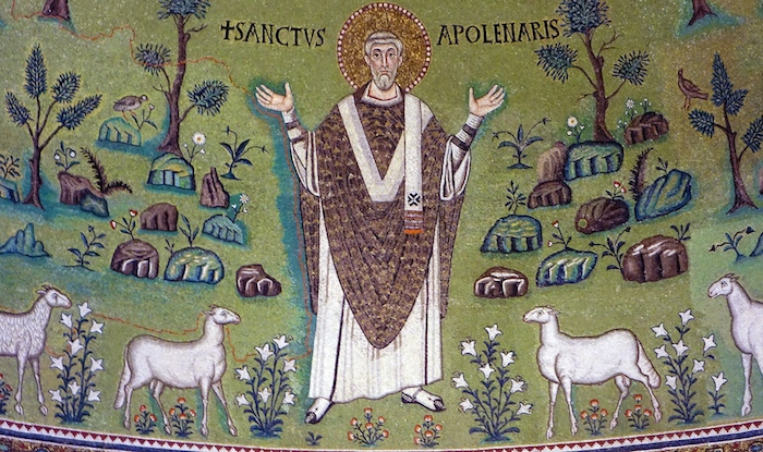 Mosaic in the apse of the Basilica of Sant'Apollinare in Classe, 6th century (Ravenna, Italy)