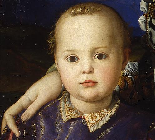 Bronzino, Portrait of Eleonora of Toledo with her son Giovanni (detail)