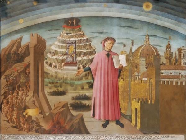 Domenico di Michelino, Dante holding the Divine Comedy, Santa Maria del Fiore, Florence, 1465