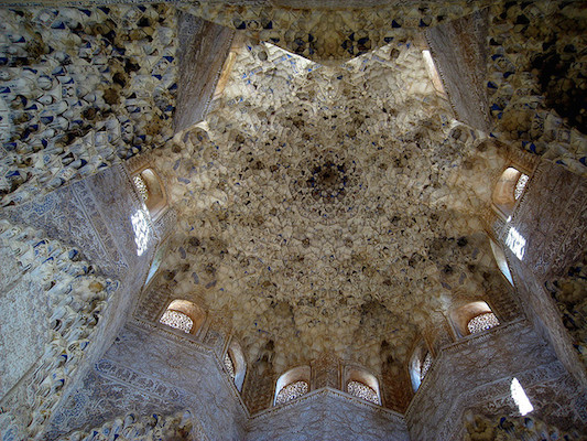 Ceiling, Hall of the Kings, Alhambra, photo: Guacamoliest (CC BY-NC 2.0)