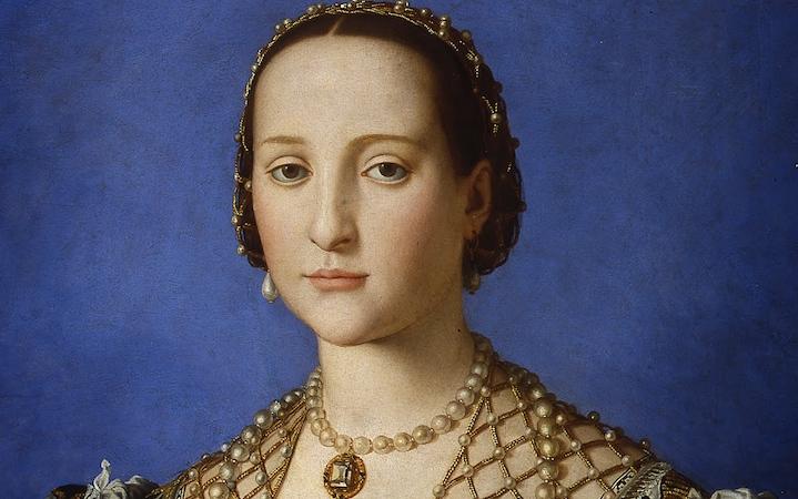 Bronzino, Portrait of Eleonora da Toledo with her son Giovanni (detail)