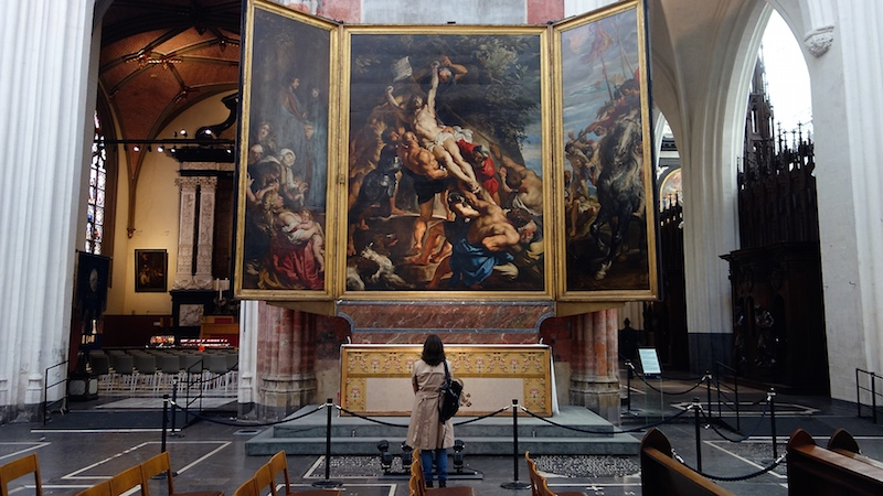View of paintings by Peter Paul Rubens in the Alte Pinakothek, Munich