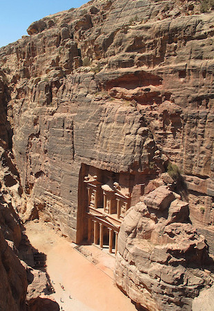 The so-called Treasury, Petra (Jordan), 2nd century C.E., photo: Kyle Simourd (CC BY 2.0)