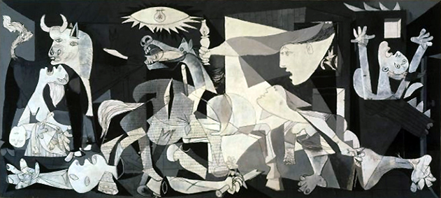 Pablo Picasso, Guernica, 1937, oil on canvas, 349 × 776 cm (Museo Reina Sofia, Madrid)