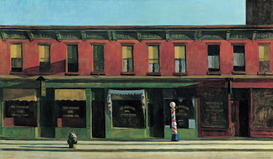 """Edward Hopper, Early Sunday Morning, 1930, oil on canvas, 35 3/16 x 60 1/4"""" (Whitney Museum of American Art)"""