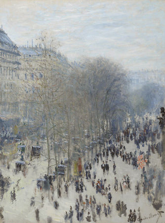 Claude Monet, Le Boulevard des Capucines, 1873-74, oil on canvas, 80.3 x 60.3 cm (Nelson-Atkins Museum of Art)