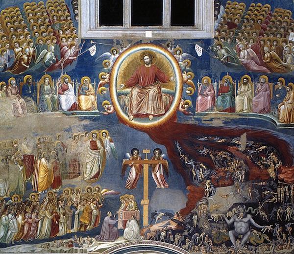 Giotto, Last Judgment, c. 1305, fresco, 1000 x 840 cm (Arena Chapel, Padua, Italy)