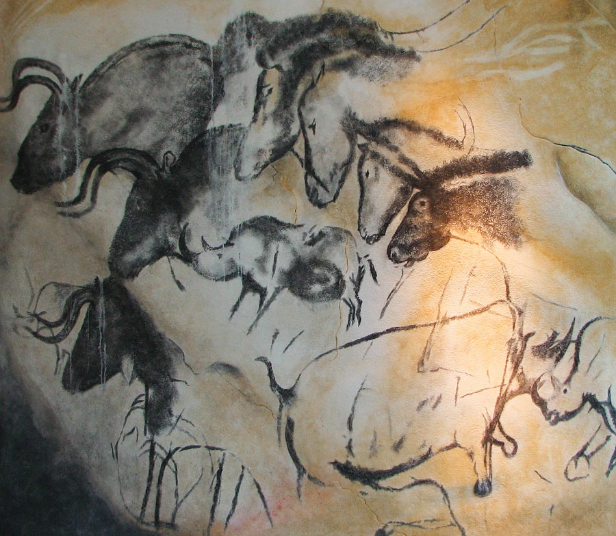 Replica of the painting from the Chauvet cave (Anthropos museum, Brno)