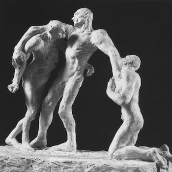 Camille Claudel, The Age of Maturity (first version), 1894-5, plaster (Musée Rodin, Paris)