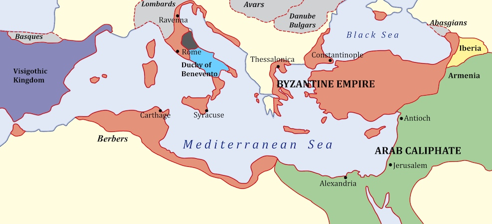 Byzantine Empire in 650