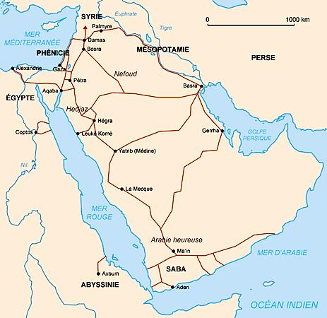 Nabataean trade routes (CC BY-SA 3.0)