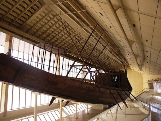 Reconstructed funerary boat of Khufu (Photo: Dr. Amy Calvert)