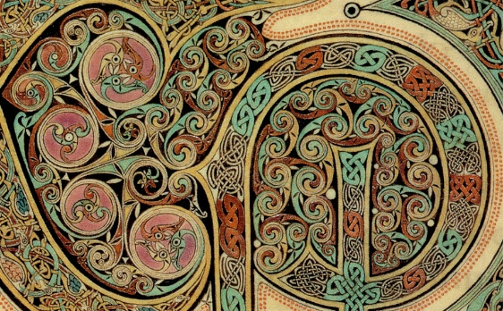 Lindisfarne Gospels, St. Matthew (detail), Second Initial Page, f.29, early 8th century (British Library)